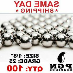 "1/8"" Inch G25 Precision Stainless Steel Bearing Balls AISI 4"
