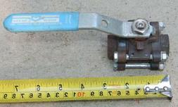 "Milwaukee 3 Piece 1/2"" Steel Ball Valve 1000 WOG  ""New other"