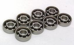 8 Skateboard Chrome Steel Open Ball bearing with Nylon Cage