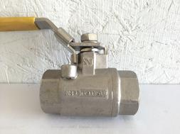 """WARREN CF8M 1/2"""" STAINLESS STEEL BALL VALVE 1000 WOG with lo"""