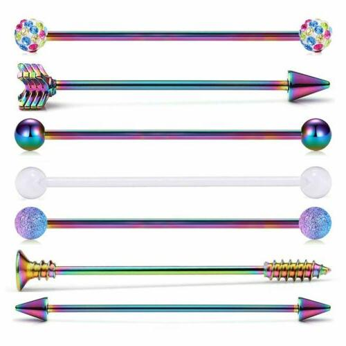 7 pcs industrial stainless steel barbell arrow