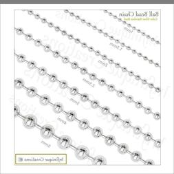 Stainless Steel Silver Ball Chain Bracelet Necklace Men Wome