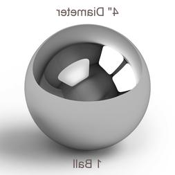 """One Large 4"""" Inch Chrome Solid Steel Bearing Ball G100 / 9.4"""