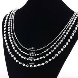Stainless Steel 24 Inch 2.4mm Ball Link Neck Chain Necklace