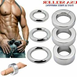 Stainless Steel Ball Stretcher Strong MagneticWeight Men Enh