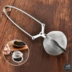 Stainless Steel Mesh Snap Ball With Handle For Loose Leaf Te