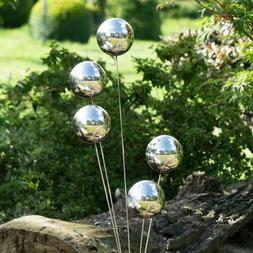 Stainless Steel Mirror Sphere Hollow Ball Home Garden Orname