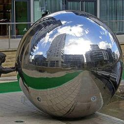 Stainless Steel Mirror Sphere Hollow Garden Decoration Gazin