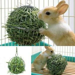 Stainless Steel Pet Bunny Feeder Ball Small Animal Hay Grass