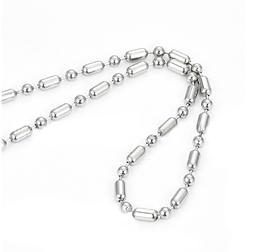 Stainless Steel Silver Bead chain Ball Chain 24 Inch Adjusta