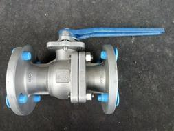 Tru-Flo 1.5 inch cast 316 stainless steel ball valve with 15